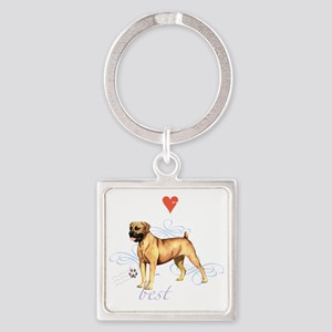 boerboel T1-K Square Keychain