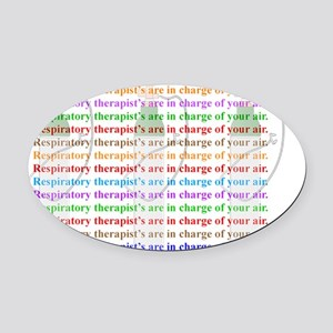 A Respiratory Therapist Oval Car Magnet