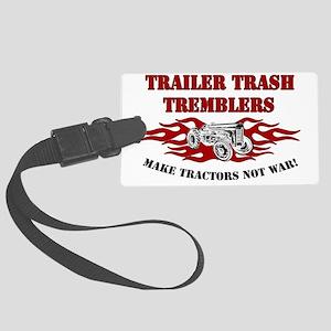 tractorfron_WIT SHIRT Large Luggage Tag