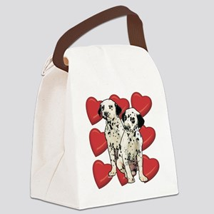 dalmatian puppy love Canvas Lunch Bag