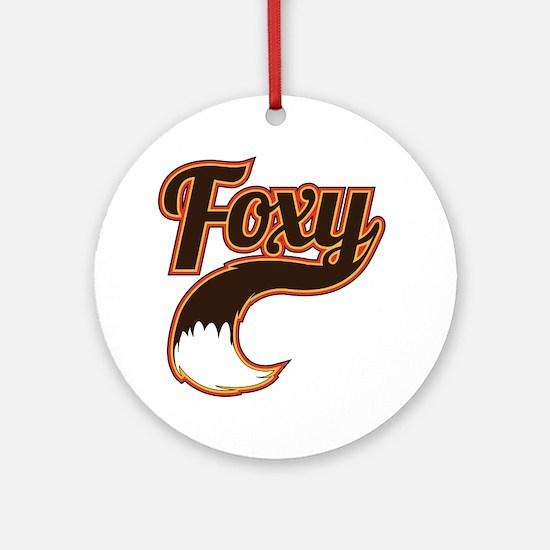 foxy Round Ornament