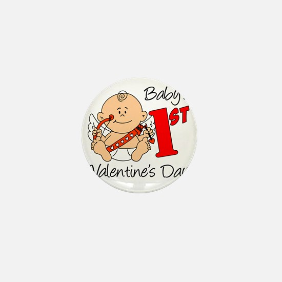 Babys First Valentines Day Mini Button