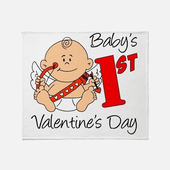Babys First Valentines Day Throw Blanket