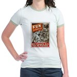 Old People Are Fun At Parties Jr. Ringer T-Shirt