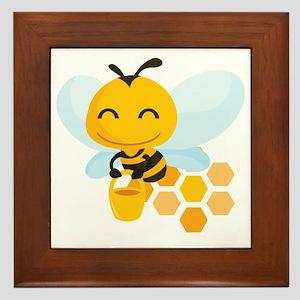 happy_honeybee Framed Tile