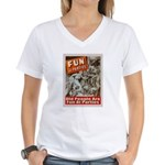 Old People Are Fun At Parties Women's V-Neck T-Shi