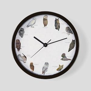 Owls_Clocklrg Wall Clock