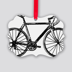 Road Bike Picture Ornament