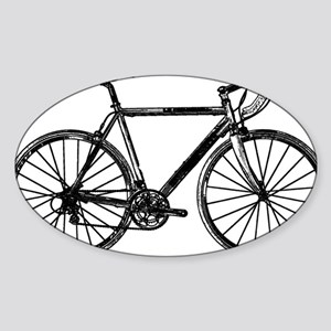 Road Bike Sticker (Oval)