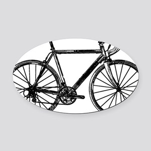 Road Bike Oval Car Magnet