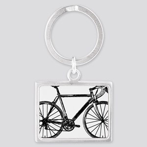 Road Bike Landscape Keychain
