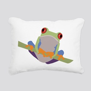 Red Eyed Tree Frog Rectangular Canvas Pillow