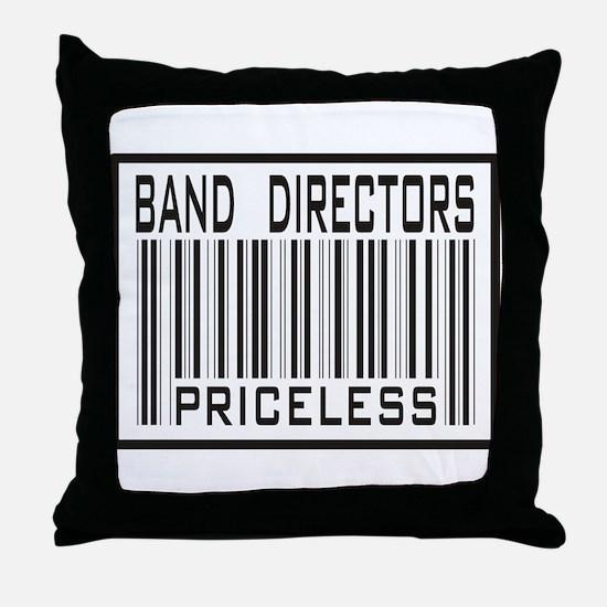 Band Directors Priceless Barcode Throw Pillow