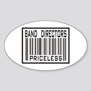 Band Directors Priceless Barcode Oval Sticker