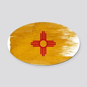 New Mexicotex3-paint styletex3-pai Oval Car Magnet
