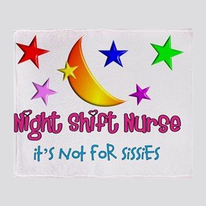 Night shift Nurse not for sissies 20 Throw Blanket