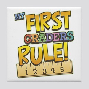 First Graders Rule Tile Coaster