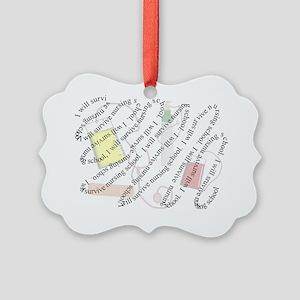 I will survive nursing school swi Picture Ornament