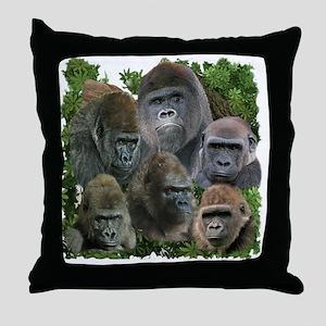 gorilla tee Throw Pillow