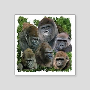 """gorilla tee Square Sticker 3"""" x 3"""""""