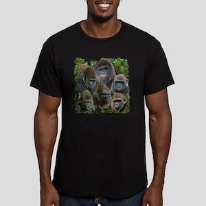 gorilla tee Men's Fitted T-Shirt (dark)