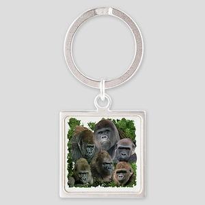 gorilla tee Square Keychain