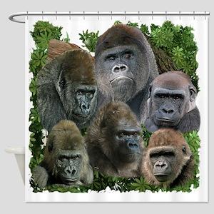 gorilla tee Shower Curtain