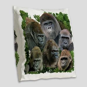 gorilla tee Burlap Throw Pillow