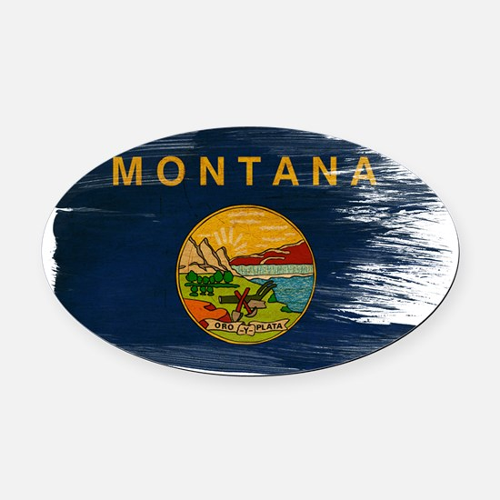 Montanatex3-paint styletex3-paint Oval Car Magnet