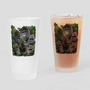 gorilla tee Drinking Glass