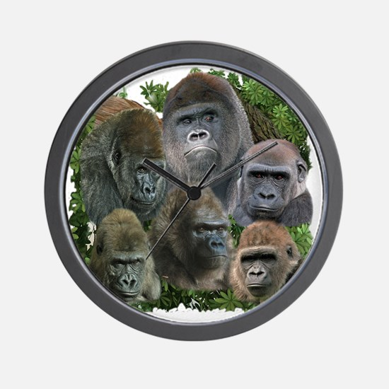 gorilla tee Wall Clock