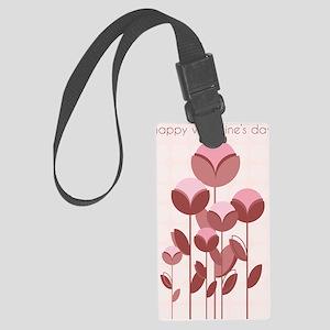 FlowerPopsVday Large Luggage Tag