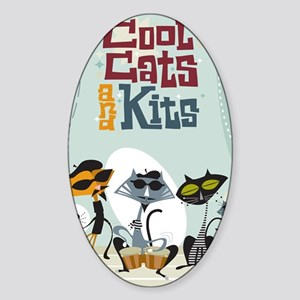 9x12coolcats Sticker (Oval)