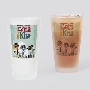 9x12coolcats Drinking Glass