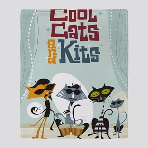 9x12coolcats Throw Blanket