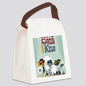 9x12coolcats Canvas Lunch Bag