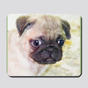 pug art Mousepad
