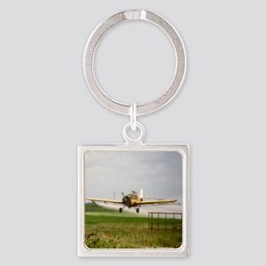 Texas Crop Duster Square Keychain