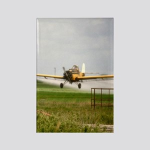 Texas Crop Duster Rectangle Magnet