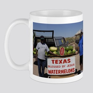 Texas Blessed by Jesus Watermelons Mug