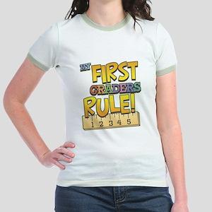 First Graders Rule Jr. Ringer T-Shirt