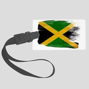 Jamaicatex3-paint style-paint st Large Luggage Tag