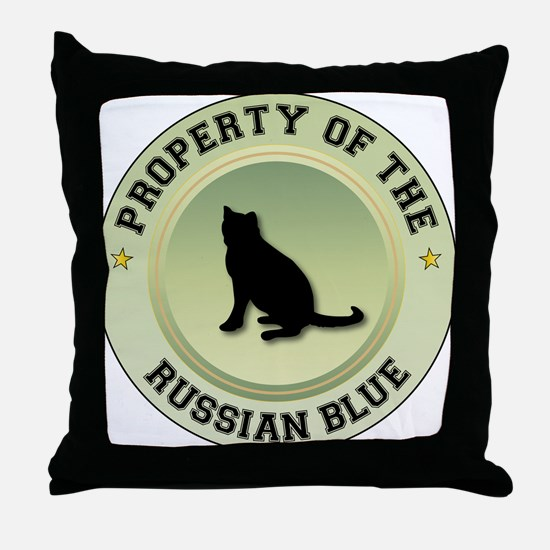 Russian Blue Property Throw Pillow