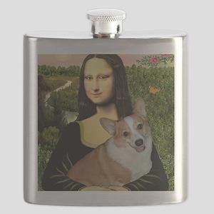 Poster-small-Mona-Corgi L Flask