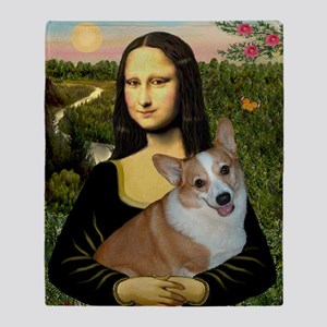 Poster-small-Mona-Corgi L Throw Blanket
