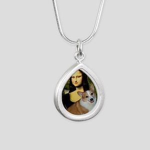 Poster-small-Mona-Corgi  Silver Teardrop Necklace