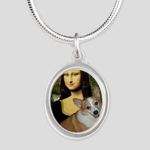 Poster-small-Mona-Corgi L Silver Oval Necklace