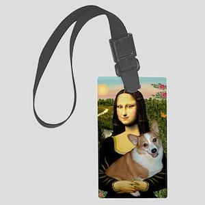 Poster-small-Mona-Corgi L Large Luggage Tag