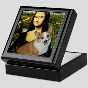 Poster-small-Mona-Corgi L Keepsake Box
