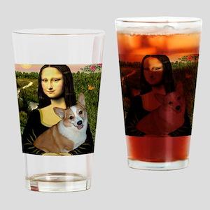 Poster-small-Mona-Corgi L Drinking Glass